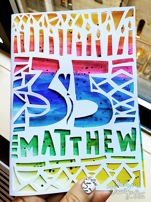 Balzer Designs Hand Cut Birthday Card for My Brother – Birthday Card for My Brother