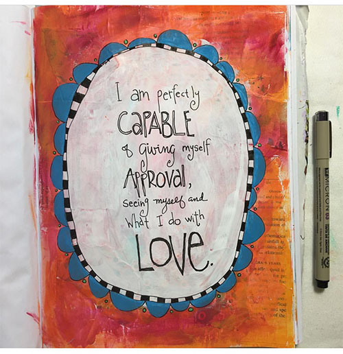 From the Balzer Designs Blog: Art Journal Every Day: Fall Favorites #AJED #ArtJournalEveryDay