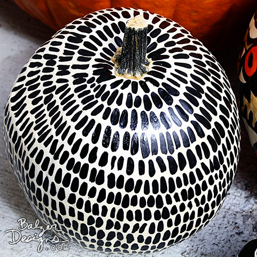 from the Balzer Designs Blog: Painted Pumpkins for Halloween