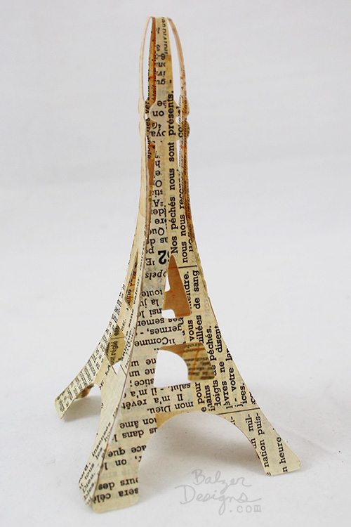 from the Balzer Designs Blog: #ScanNCut Project: Three-Dimensional Eiffel Tower Ring Holder