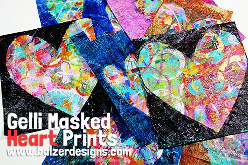 from the Balzer Designs Blog: Blogiversary Tutorial Redo: Double Masked Gelatin Prints