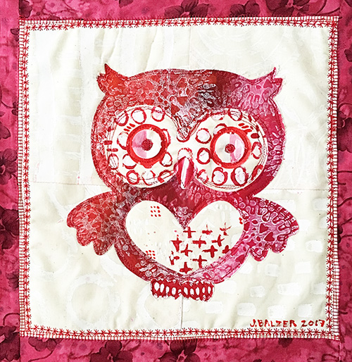 from the Balzer Designs Blog: A Mini Owl Quilt Made with my ScanNCut