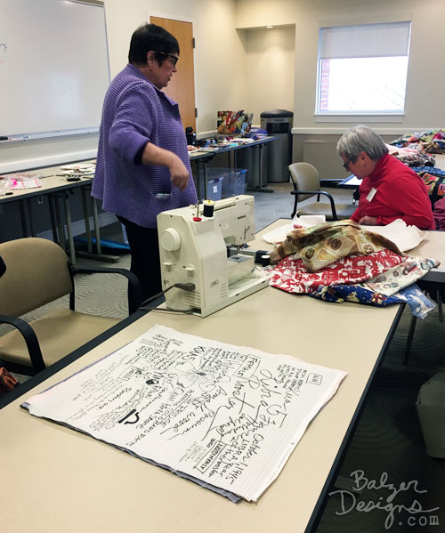 From the Balzer Designs Blog: Two-Day Class with Frances Holliday Alford