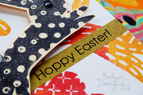 from the Balzer Designs Blog: $1 Bunny Window Clings Become Stamps