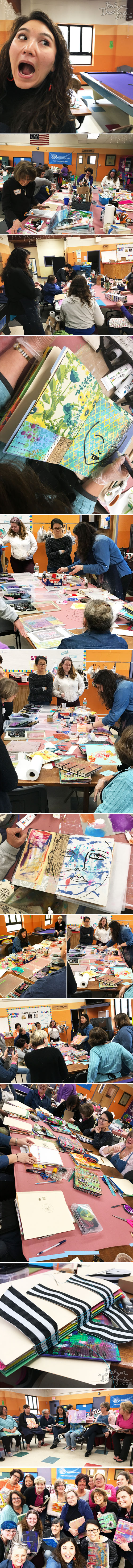 From the Balzer Designs Blog: Two-Day Art Journaling Workshop