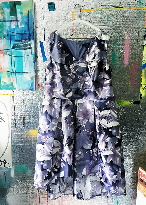 from the Balzer Designs Blog: Painted Dress & Tie for the MFA Summer Party