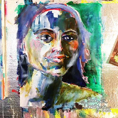 from the Balzer Designs Blog: #the100dayproject: Faces 77 - 86
