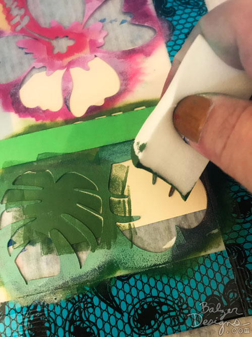 From the Balzer Designs Blog: Summer Stencil Techniques With Suzanne: Bump It!