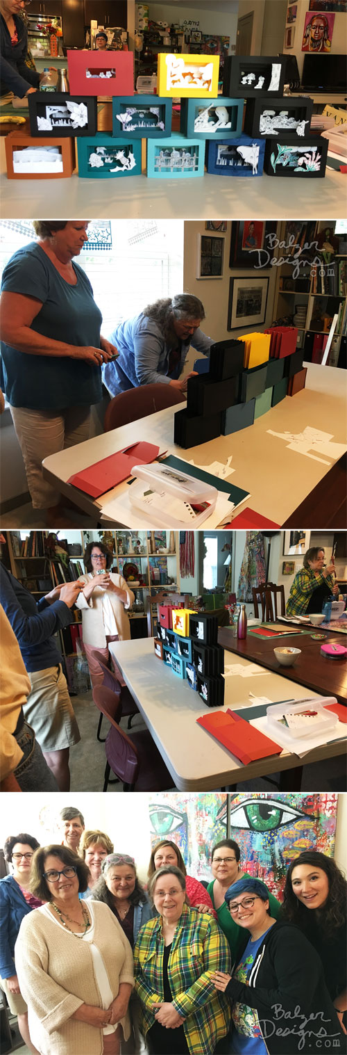 From the Balzer Designs Blog: Tunnel Book Class
