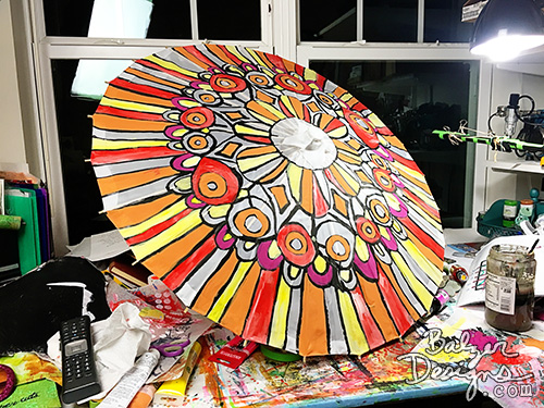 from the Balzer Designs Blog: Painted Parasol