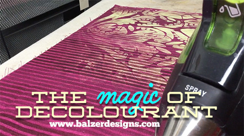 from the Balzer Designs Blog: The magic of deColourant #dischargepaste