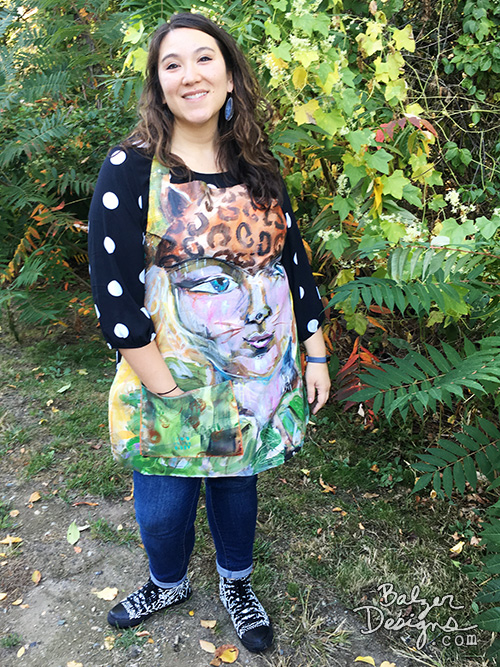from the Balzer Designs Blog: Turn a Painting into an Apron