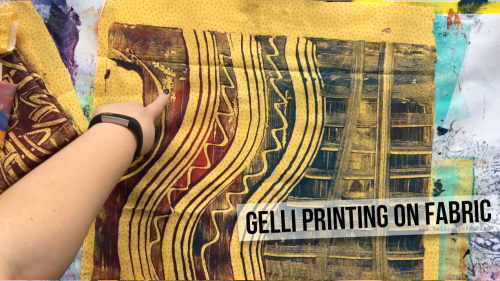 GelliPrintingOnFabric