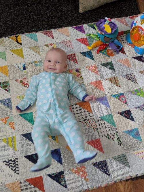 Quilt Baby Quilt with Baby