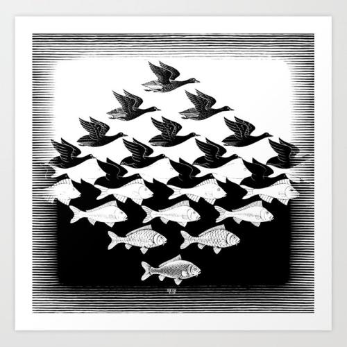 Escher-sky-and-water-prints