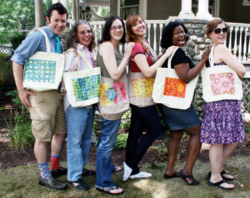 Wearable Art Painted Tote Bags