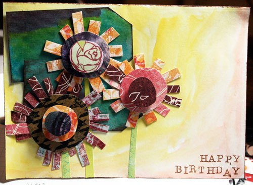 nonlayout paper crafts Happy Birthday Card – Birthday Card Layout